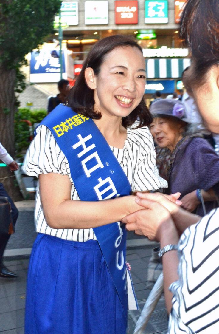 「しんぶん赤旗」に東京選挙区の激戦ルポが掲載されました
